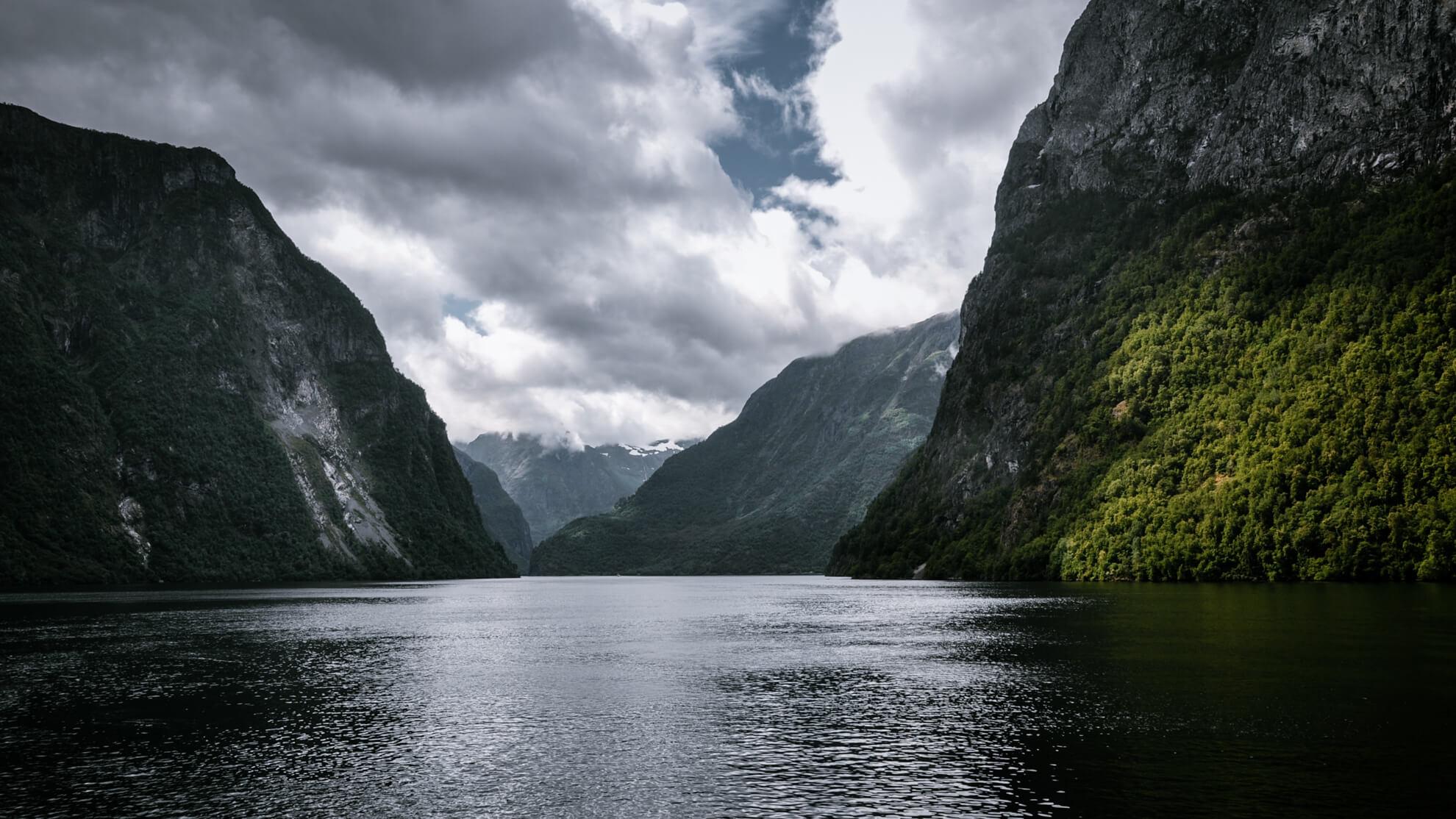 przyroda fjord Norwegia