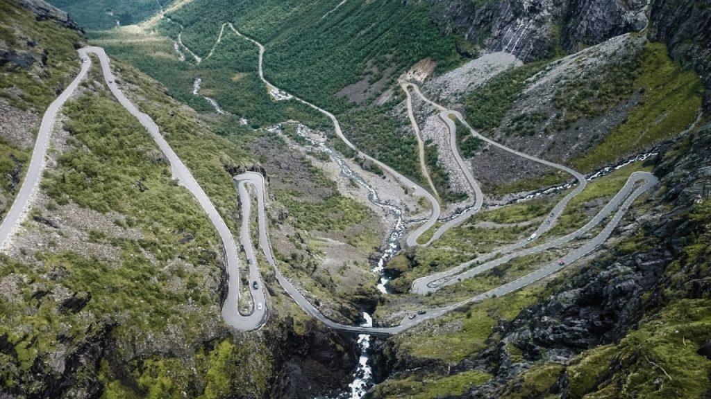 Norwegia Droga Trolli Trollstigen Drabina Trolli