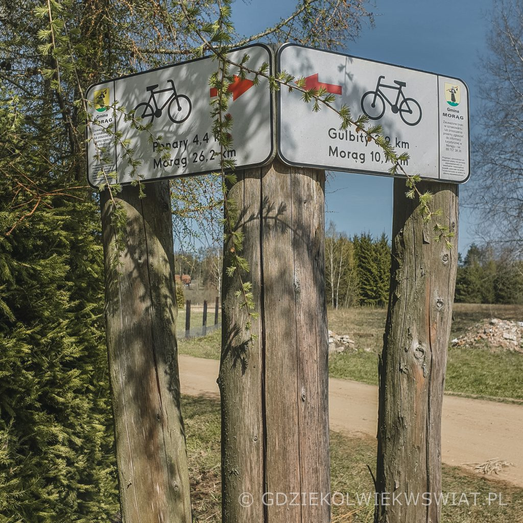 Kretowiny Morąg Czerwony szlak rowerowy