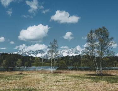 Alpy Austria latem jezioro Schwarzsee
