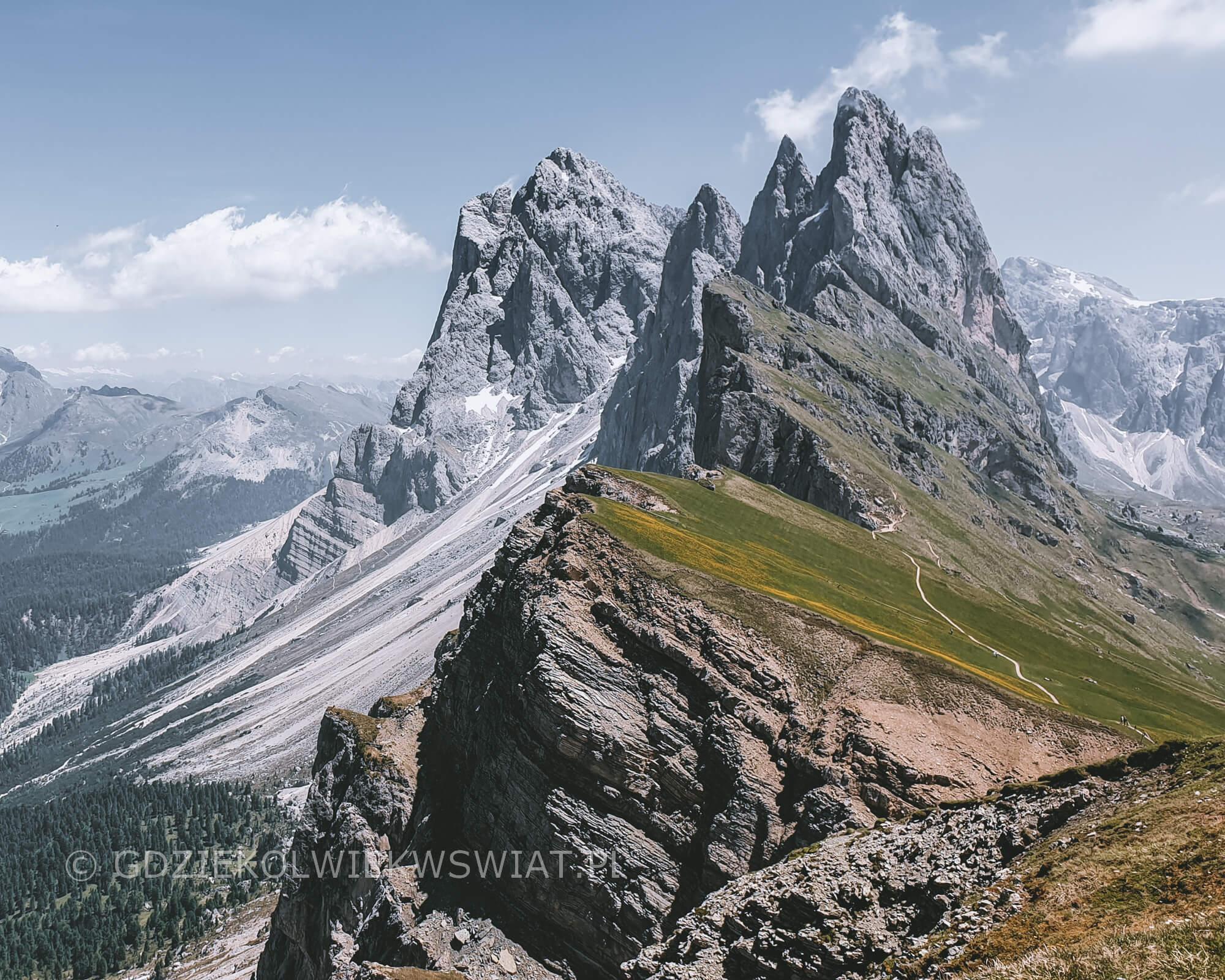Dolomity Seceda latem