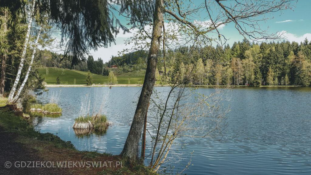Jezioro Schwarzsee Kitzbuhel Austria