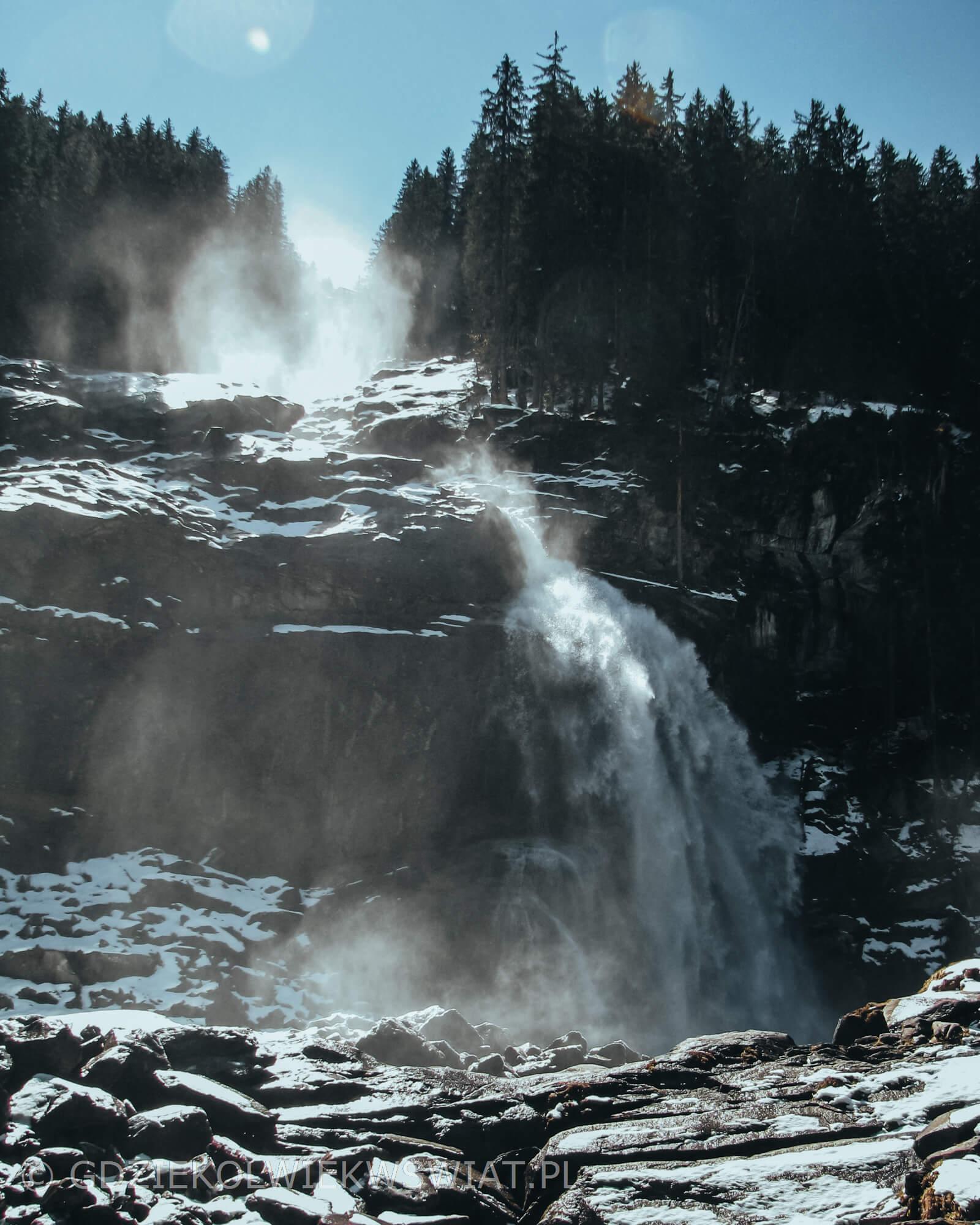 Krimml wodospad Austria