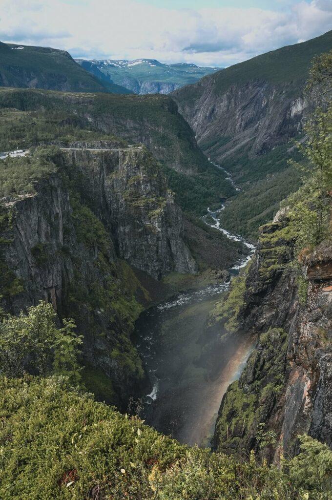 Norwegia-aNorwegia wodospady Voringsfossen