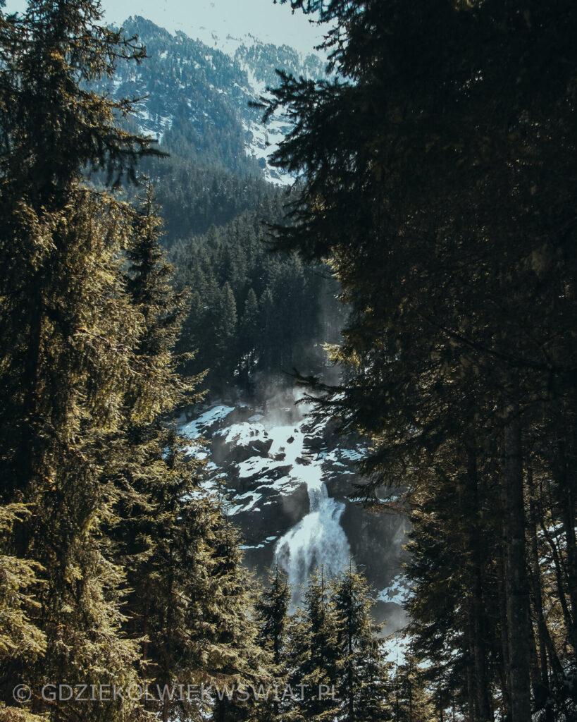 Wodospady Krimml Austria Tyrol