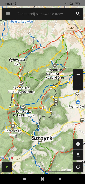 mapa turystyczna aplikacja na android