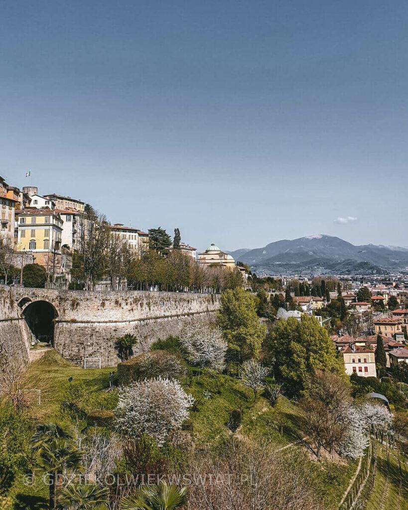 Bergamo mury miejskie zabytki